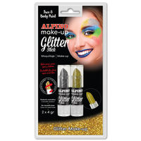 ALPINO MAKE-UP * BLISTER / 2 GLITTER STICK ORO / PLATA R: DL000083BL