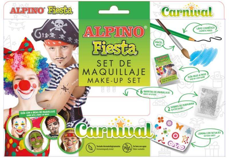 SET / 6 MAQUILLAJE ALPINO FIESTA CARNIVAL 5gr COLORES SURTIDOS
