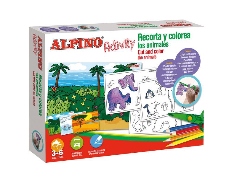 ALPINO ACTIVITY * RECORTA Y COLORES LOS ANIMALES R: AC00004