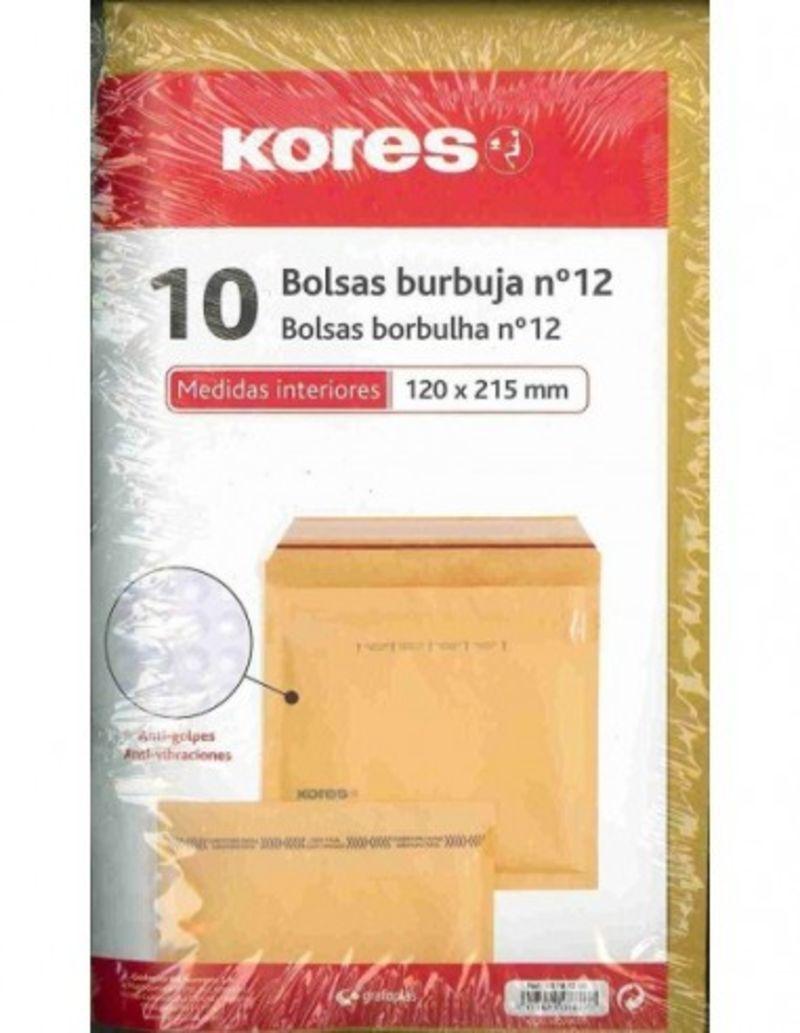 PAQ / 10 BOLSA BURBUJAS N.12 120X215 R: 10181200