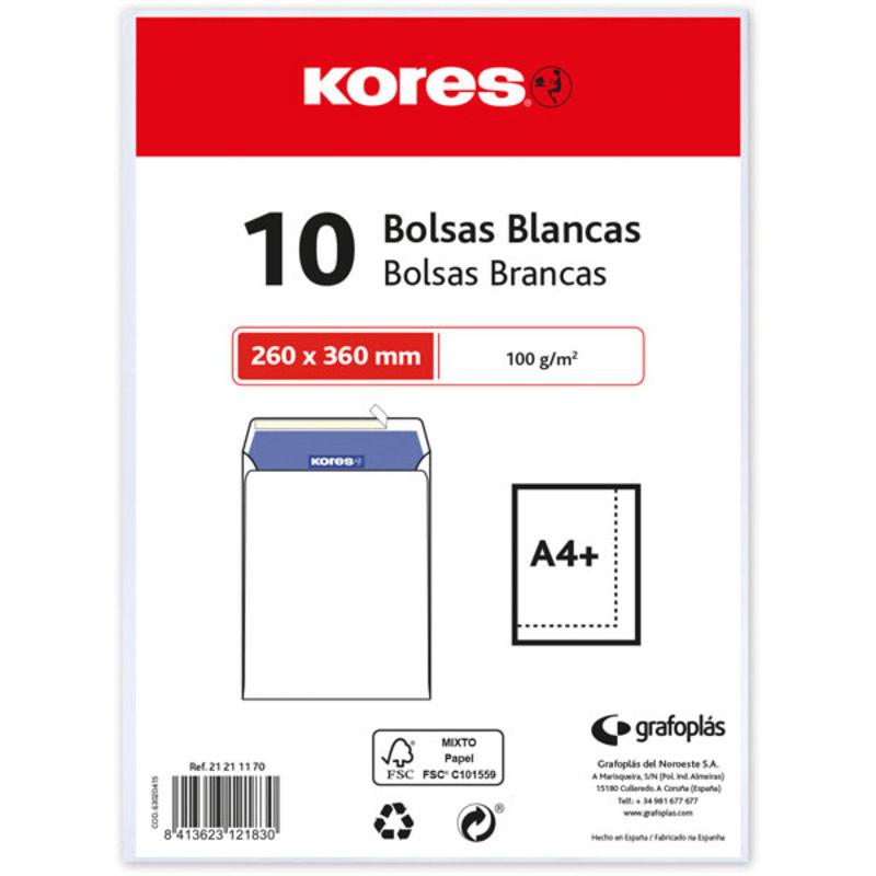 PAQ.10 BOLSAS 162X229 BLANCA R: 21141170