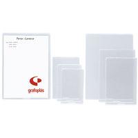 C / 40 FUNDAS 65X105MM PVC C / REBAJE R: 05632000