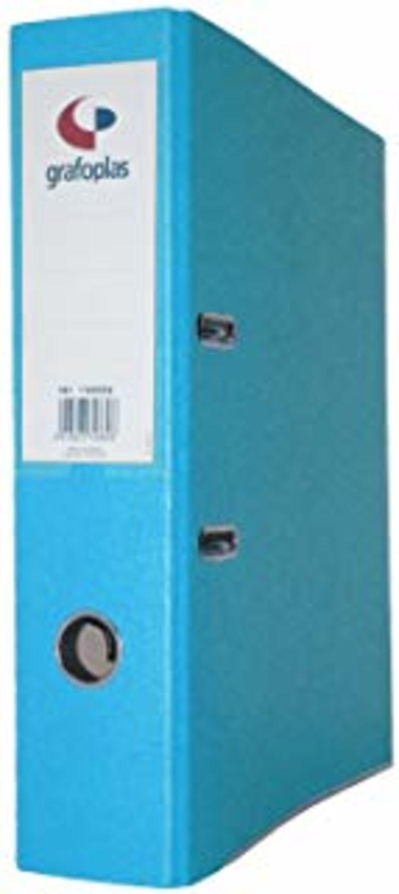 ARCHIVADOR GRAFCOLOR A4 2 ANILLAS 65mm AZUL R: 17269630