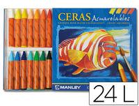C / 24 CERAS ACUARELABLES R: MNQ00424