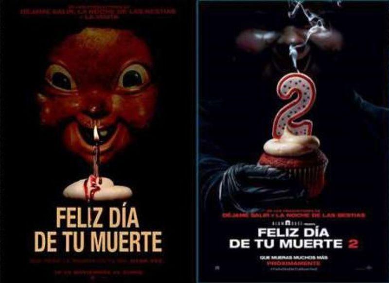 FELIZ DIA DE TU MUERTE 1 + 2 (DVD) * JESSICA ROTHE, ISRAEL BROUSSAR.