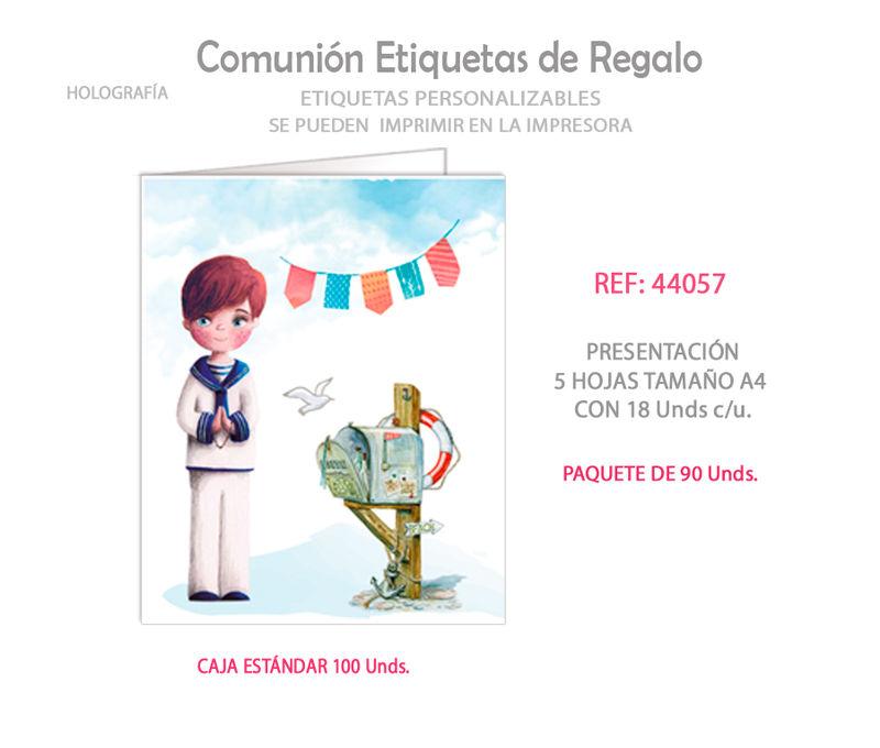 PAQ / 90 ETIQUETAS COMUNION NIÑO BUZON