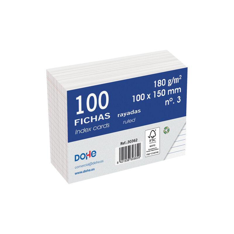 FICHAS 100H RAYADAS 100x150 R: 30362