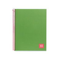 CANDY TAG 18 * NOTEBOOK 1 A4 80H CUAD. VERDE R: 2732