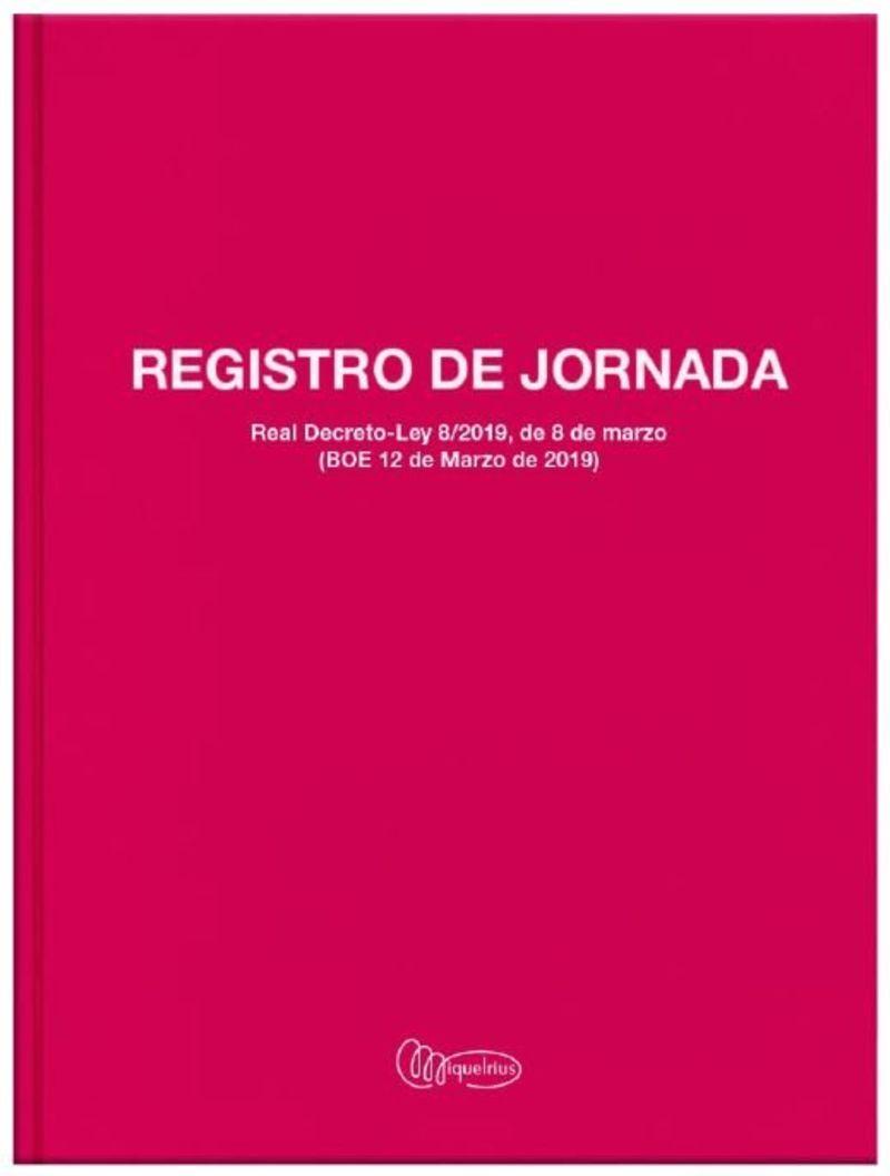 LIBRO A4 40H REGISTRO HORARIO LABORAL CASTELLANO