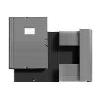 BLACK&WHITE * CARPETA SOLAPAS A4 RAYAS R: 20944