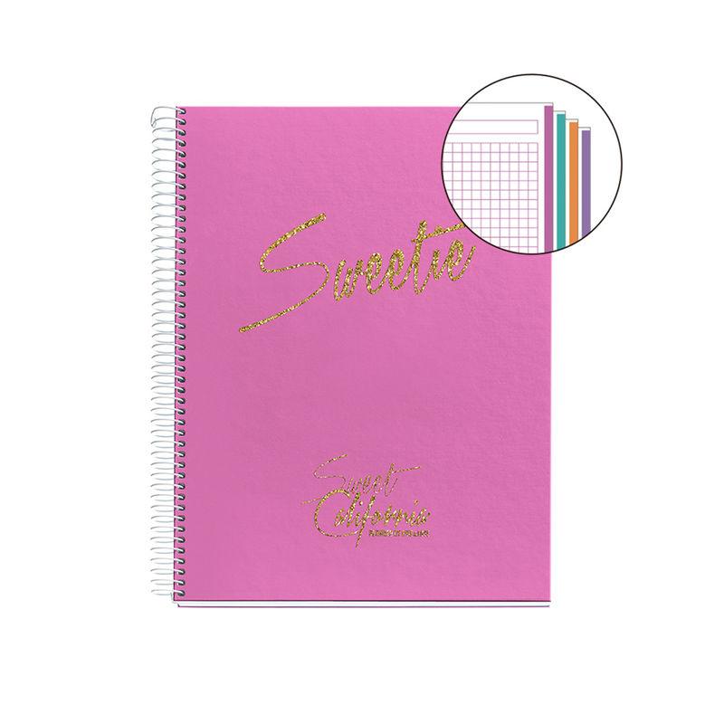 CHIC & LOVE * NOTEBOOK 4 A4 120H CUAD. 5x5 FUCSIA R: 45091