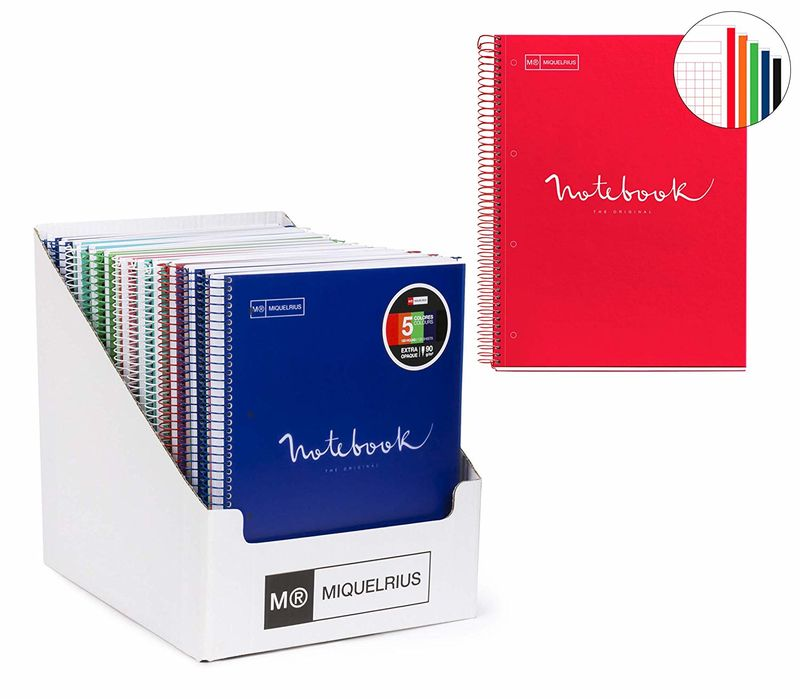 EMOTIONS * NOTEBOOK 5 A4 120H CUAD. 5x5 90g PP SURTIDOS