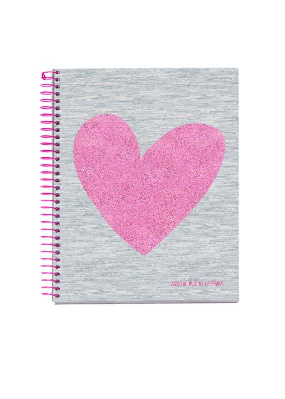 LOVE * PAQ / 3 CUADERNO NOTEBOOK 4 A6 120H CUADRICULA 5x5