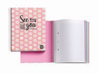 SEE YOU * NOTEBOOK 4 A5 140H CUAD. 5x5 R: 46401