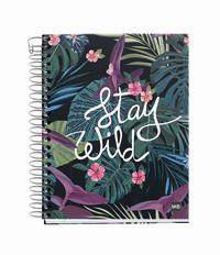 STAY WILD * NOTEBOOK 4 A6 140H CUAD. 5x5 R: 46405