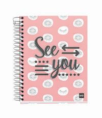 SEE YOU * NOTEBOOK 4 A6 140H CUAD. 5x5 R: 46406