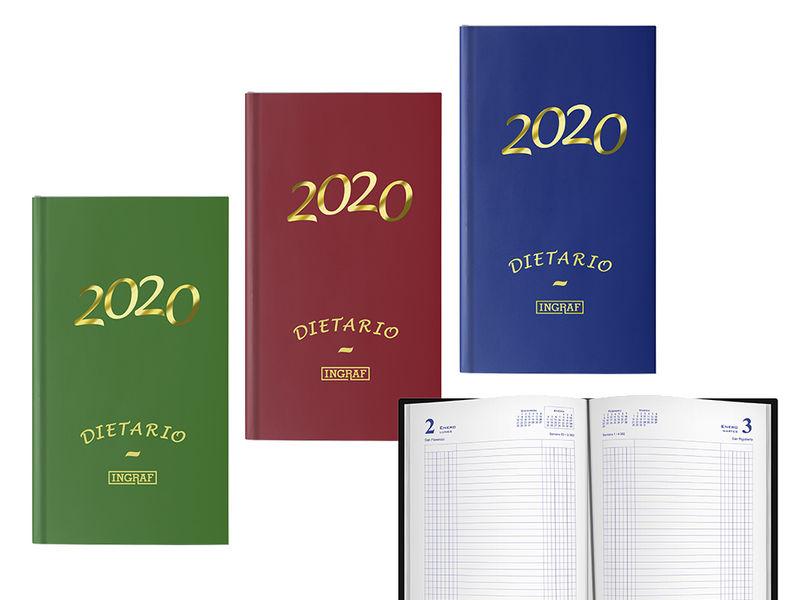 2020 * DIETARIO ENCUADERNADO 1 / 4 10040 COLORES SURTIDOS