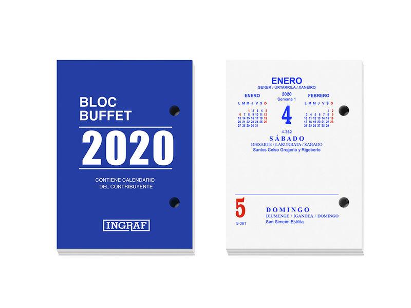 2020 * BLOC BUFFET INGRAF CASTELLANO 10200
