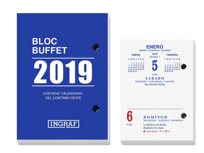 2019 * BLOC BUFFET INGRAF 10200 CASTELLANO R: 327010