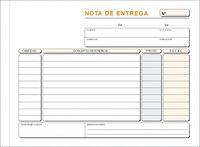 C / 10 TALONARIO NOTA DE ENTREGA 1 / 4 APAISADO DUPLICADO AUTOCOPIANTE T49