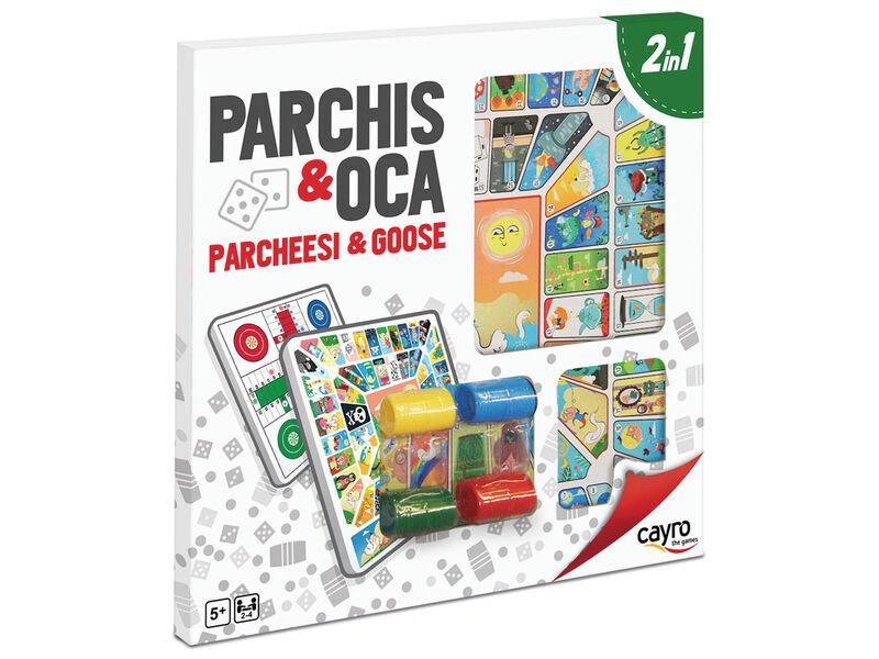 TABLERO PARCHIS - OCA MADERA CON ACC. 40X40 CM