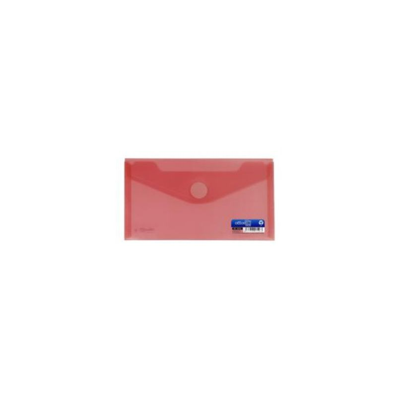 Paq / 10 Sobres Pp Minibag 60x105mm Con Velcro Rojo -