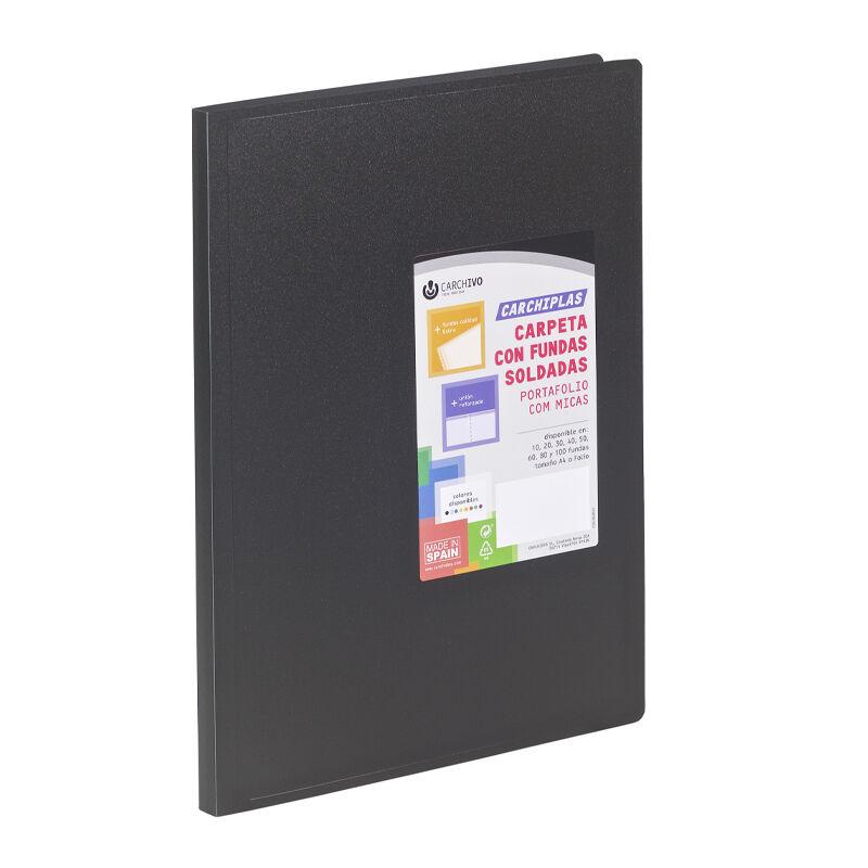 Carpeta Carchiplas-Book A4 Pp 10 Fundas Sold Negro -
