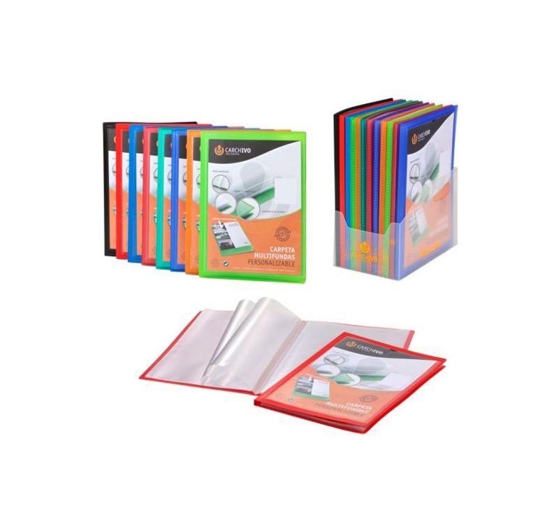 CARPETA CARCHIPLAS-BOOK A4 PP 20 FUNDAS SOLD ROJO