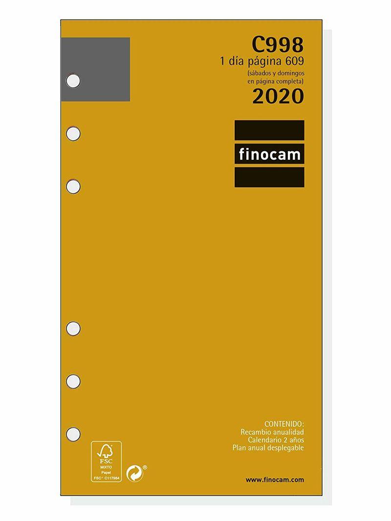 2020 * RECAMBIO ANUALIDAD C998 AGENDA CLASSIC 609 1DP
