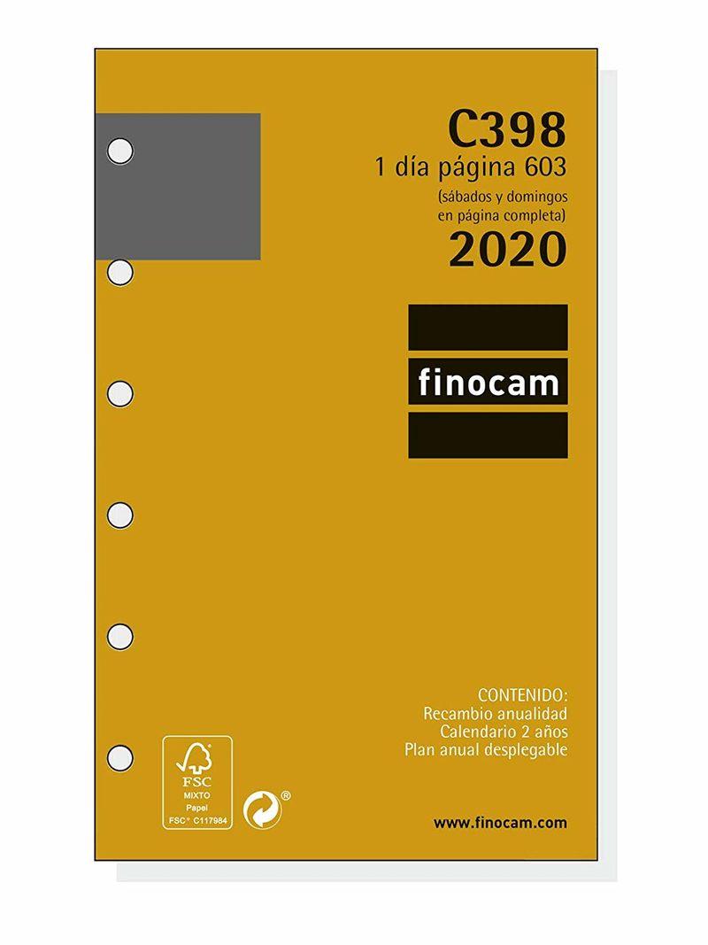 2020 * RECAMBIO ANUALIDAD C398 AGENDA CLASSIC 603 1DP