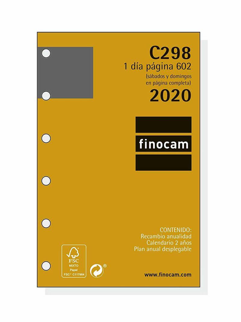 2020 * RECAMBIO ANUALIDAD C298 AGENDA CLASSIC 602 1DP