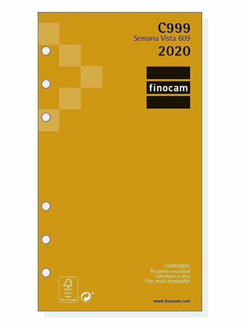 2020 * Recambio Anualidad C999 Agenda Classic 609 Sv -