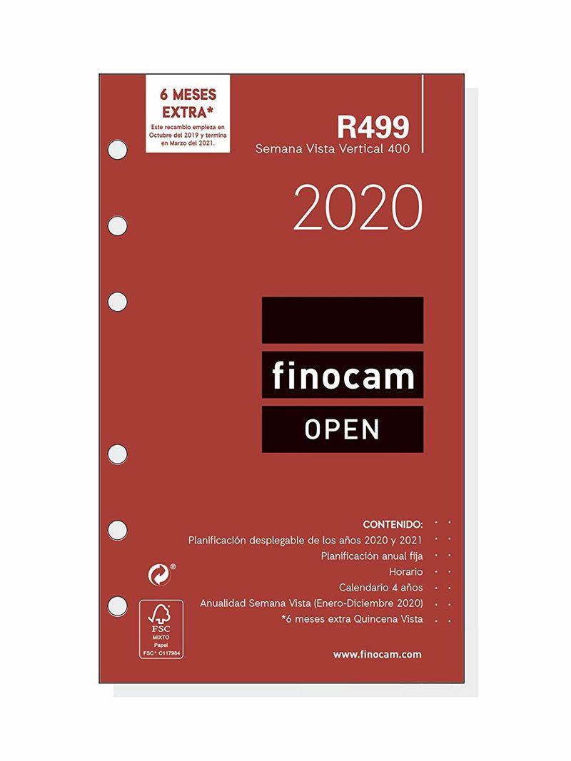 2020 * RECAMBIO ANUALIDAD R499 AGENDA ANILLAS OPEN 400 SV