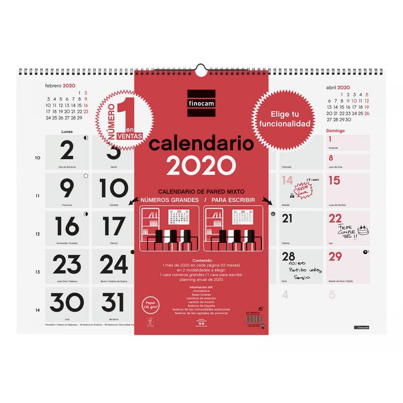 2020 * CALENDARIO PARED MIXTO XL