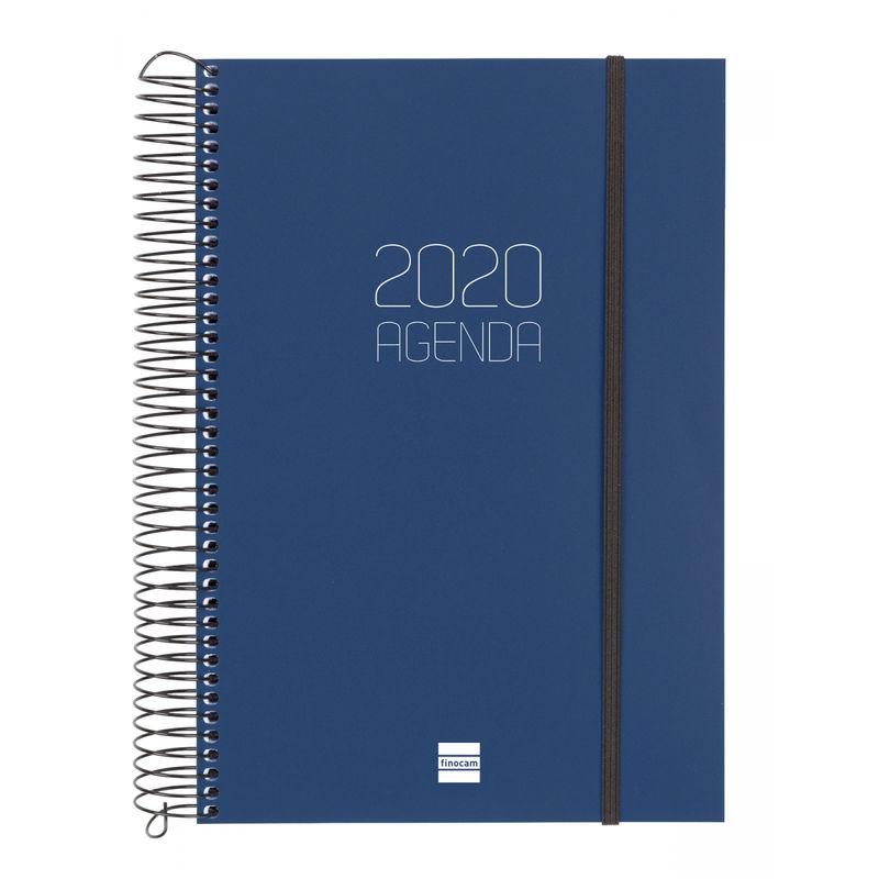 2020 * AGENDA ESPIRAL OPAQUE E11 1DP AZUL