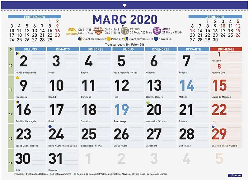 2020 CAT * CALENDARIO FALDILLA MIX F94 43X31 S / DEVOLUCION