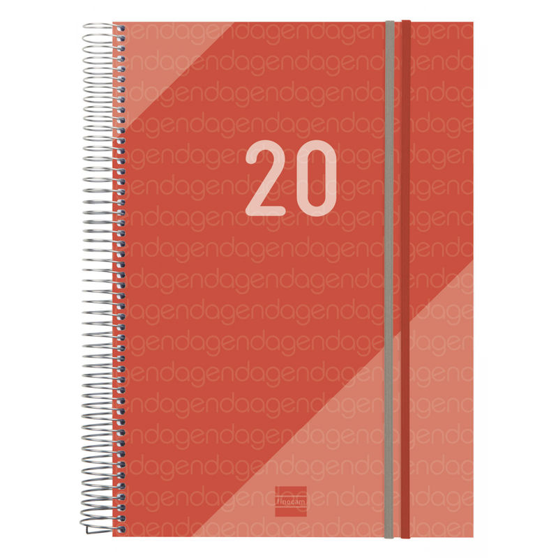 2020 * AGENDA ESPIRAL YEAR E40 1DP ROJO