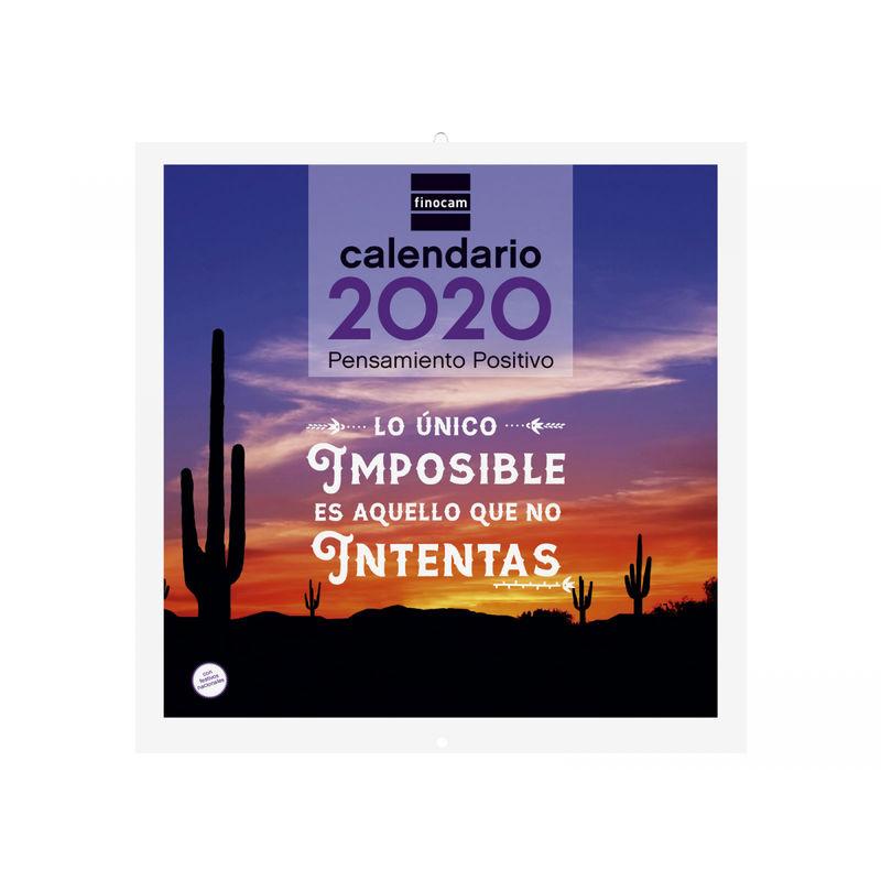 2020 * CALENDARIO PARED 30X30 PENSAMIENTO POSITIVO