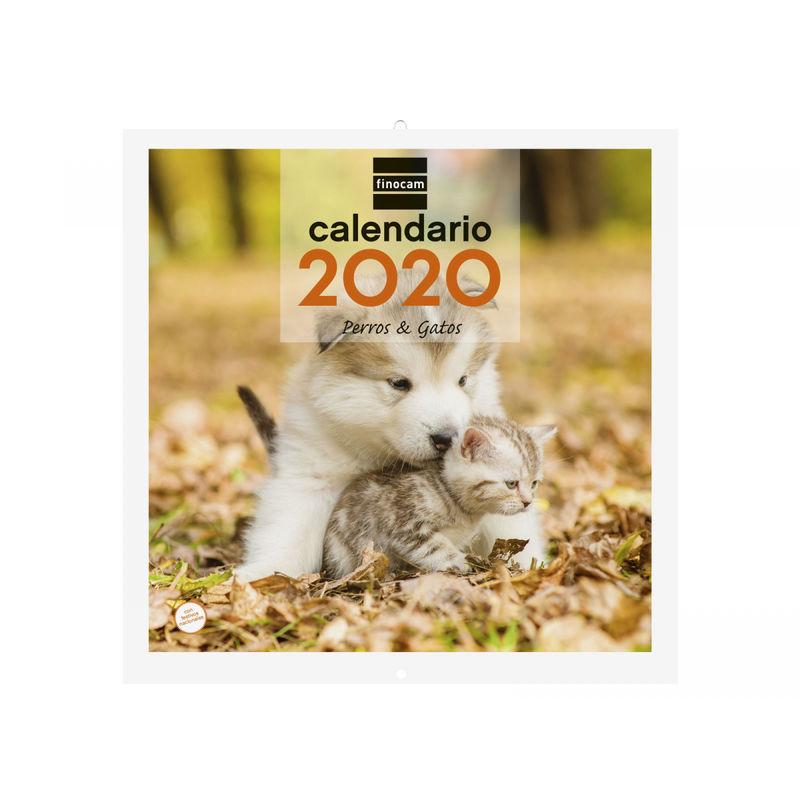2020 * CALENDARIO PARED 30X30 PERROS Y GATOS