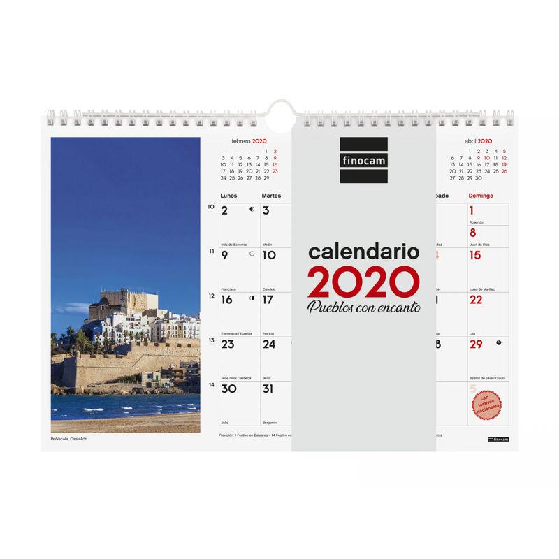 2020 * CALENDARIO PARED ESPIRAL 30X21 PUEBLOS CON ENCANTO