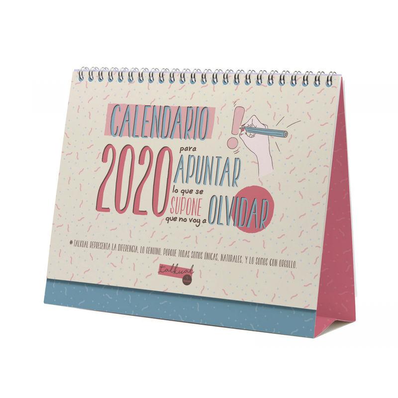 2020 * CALENDARIO SOBREMESA TALKUAL