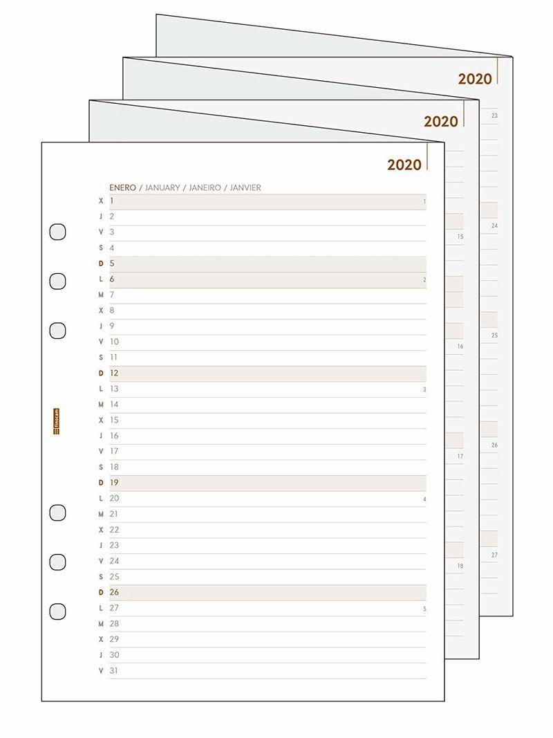 2020 * PLANIFICADOR DESPLEGABLE R1096 PARA AGENDA OPEN 1000
