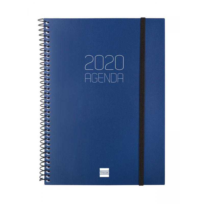 2020 * AGENDA ESPIRAL OPAQUE E10 SV AZUL EUSKERA