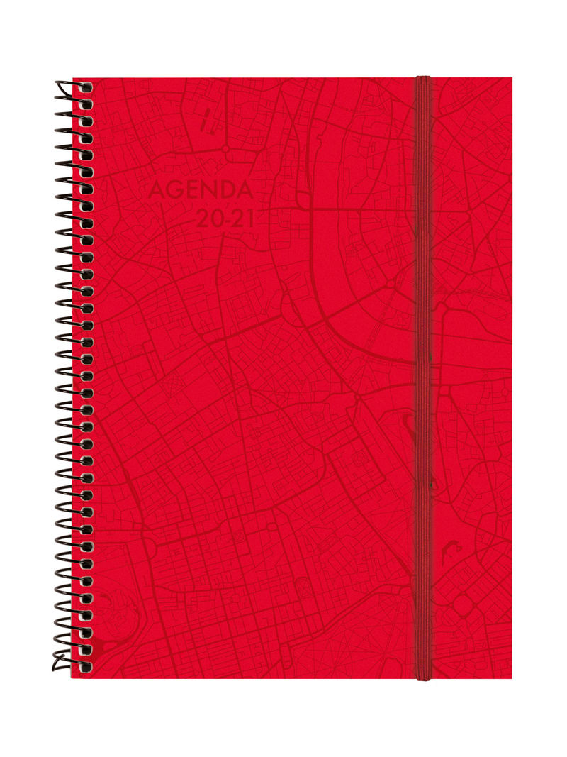 agenda 2020 * 18m. esp. travel e10 sv 20-21 vermell cat+ -