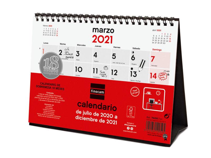 20 / 21 18M * CALENDARIO SOBREMESA S 18 MESES