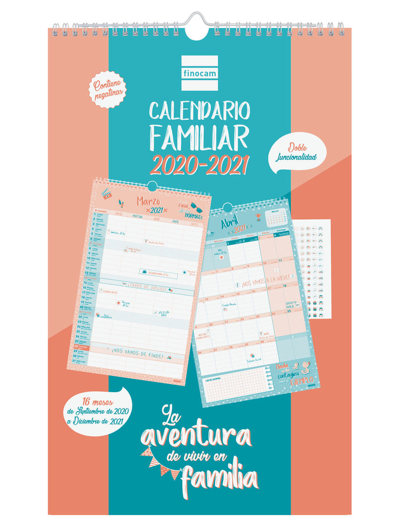 2020-21 * CALENDARIO 16 MESES FINOCAM FAMILIAR AVENTURA BASIC