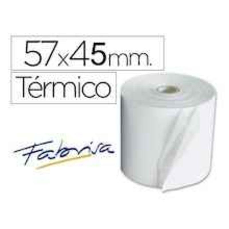 PAQ / 10 ROLLOS SUMADORA TERMICO 57x45x12 R: 16167
