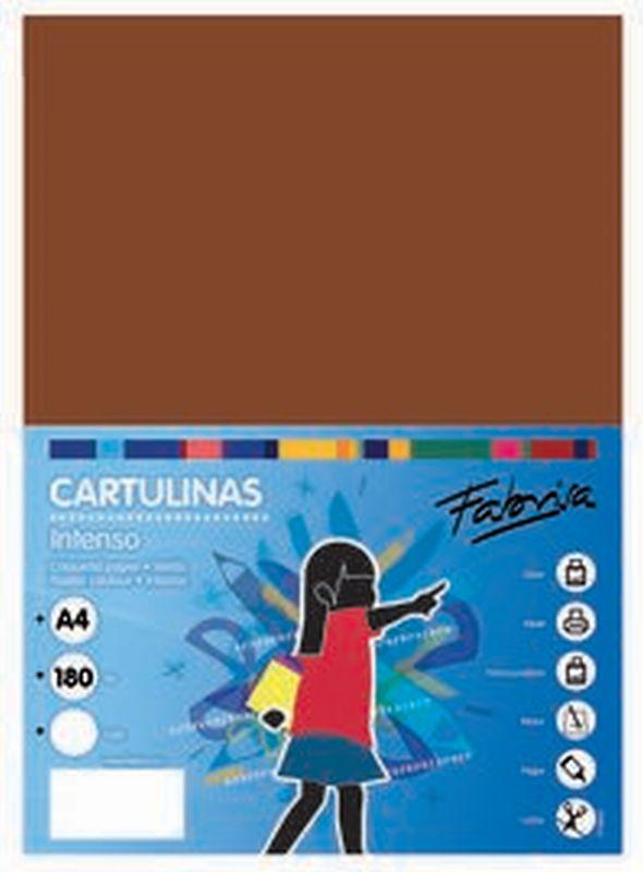 PAQ / 25 CARTULINA 180G 50X65 MARRON