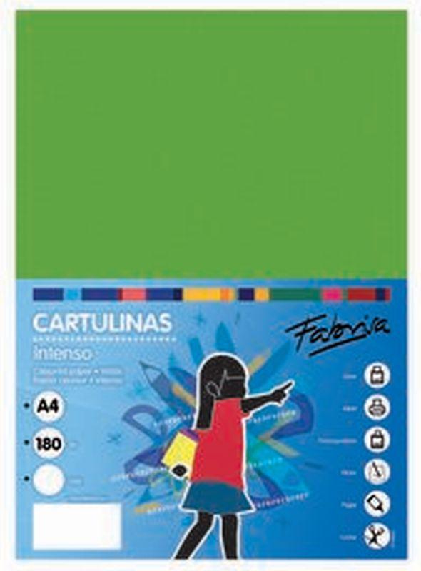PAQ / 25 CARTULINA 180G 50X65 VERDE FUERTE