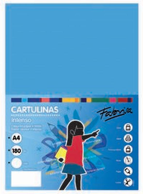 PAQ / 25 CARTULINA 180G 50X65 AZUL TURQUESA